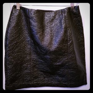 New Sz 10 H&M Black Crinkled Patent Skirt